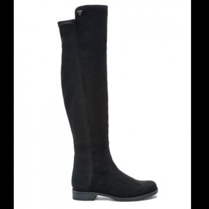 Guess Over Knee Black Tall Boots Sz 8M NEW DISPLAY